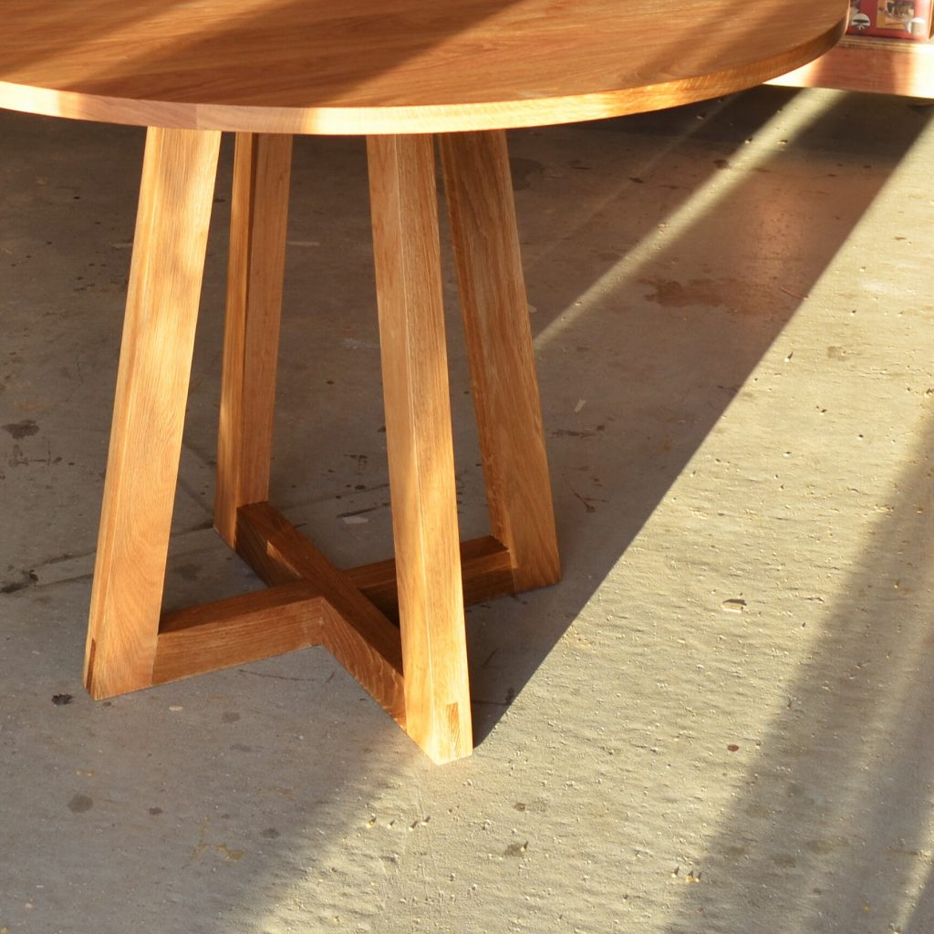 modern rustic table